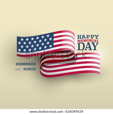 Shutterstock The American flag symbol, Memorial Day national holiday card