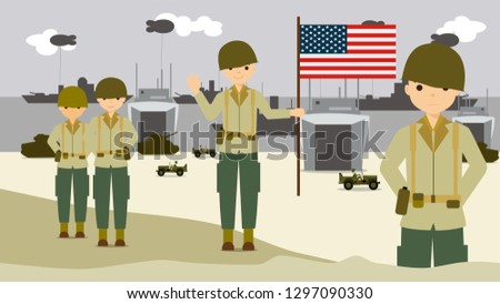 the american soldiers on the