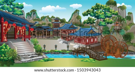 the ancient chinese village in