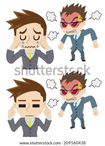 the angry boss  reaction of