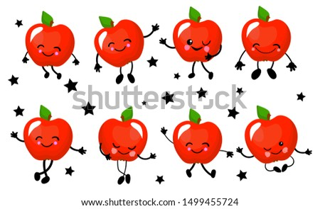the apple is red character is