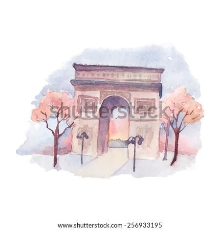 the arc de triumph in paris....