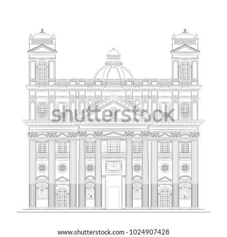 the architectural drawing of an