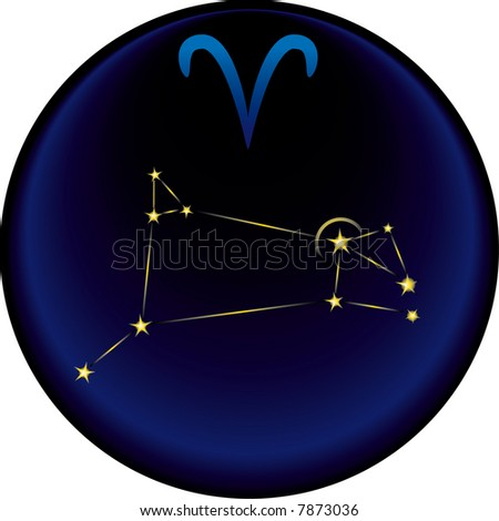 the Aries constellation plus the Aries astrological sign