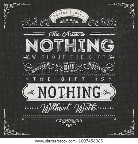 the artist is nothing without