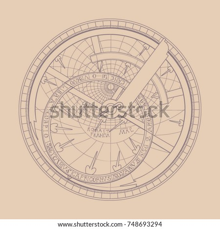 the astrolabe in a contour image