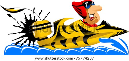 The athlete is involved in racing motor boats (illustration);