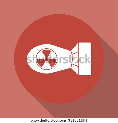 the atomic bomb icon flat