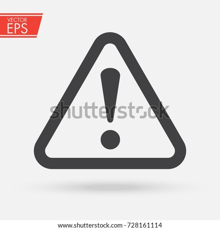 The attention icon. Danger symbol. Flat Vector illustration. Vector attention sign with exclamation mark icon. Risk sign vector illustration.