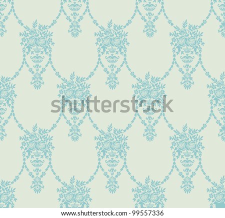 The background with abstract floral elements - stock vector
