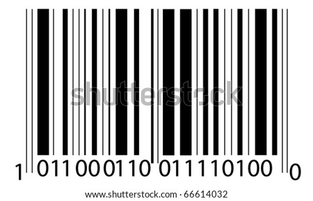 the bar- code - stock vector