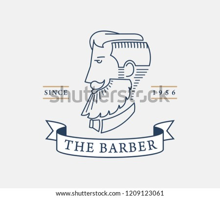 The barber style is a vector illustration about style
