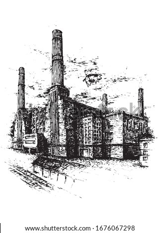 the battersea power station in