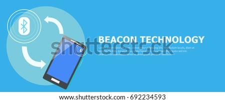 The Beacon Boom: Fitting Beacon Technology Banner  Local SEO Strategy. Vector flat illuustration