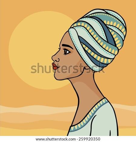 the beautiful girl in a turban