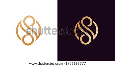 the beautiful letter SS infinity monogram in incredibly luxury and classy style, elegant circular letter S and S logo template for a high-end brand personality