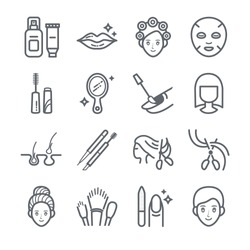 The Beauty vector icons set
