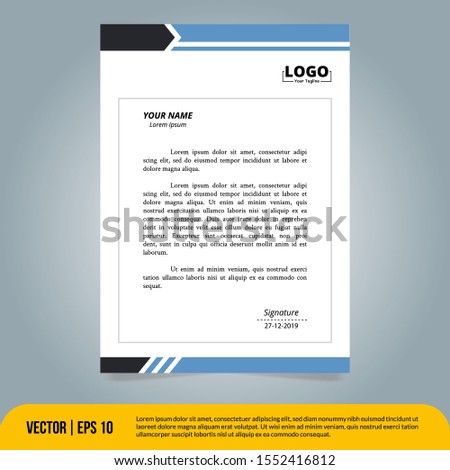 the best Business Letterhead design template. Sutiable for companies, corporates, offices and many other of business purposes.