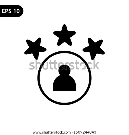 The best customer experience with stars satisfaction rating icon vector for review apps and websites