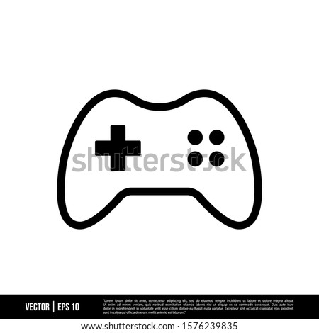 The best Gamepad icon vector, illustration logo template in trendy style. Suitable for many purposes. Foto stock ©