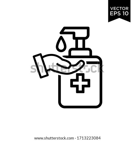 The best Hand Soap Sanitizer Icon Vector Illustration Logo Template