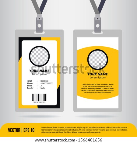 the best ID Card design template. Sutiable for companies, corporates, offices and many other of business purposes.