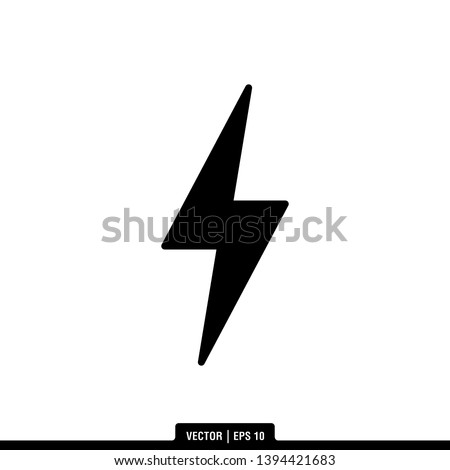 The best lightning icon vector, illustration logo template in trendy style. Can be used for many purposes.  Foto stock ©