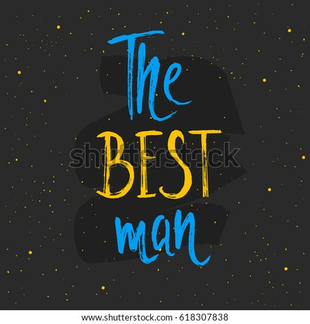 the best man lettering hand