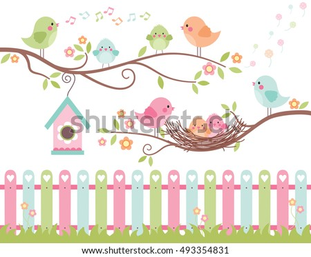 The Best Nest / Cute Birds on Branches Chicks in Nest