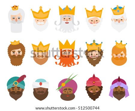 The best pack of The three kings of orient isolated. 15 wisemen.