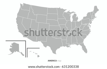 Country Map Of America.The Best Usa United State Of America Country Map Outline Vector Ez