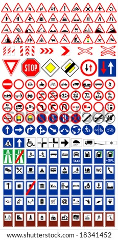 The big traffic sign collection vector