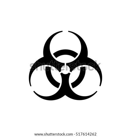 The biohazard icon. Biohazard symbol.