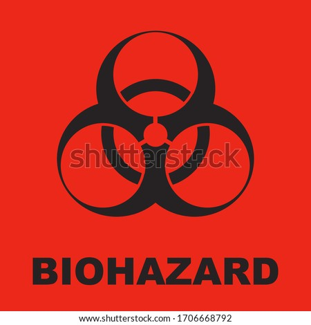 the biohazard symbol is red and