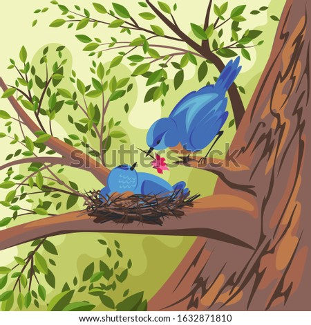 the bird is blue vector image