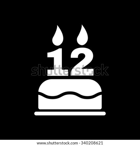 the birthday cake with candles