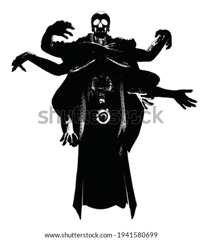 the black silhouette of a