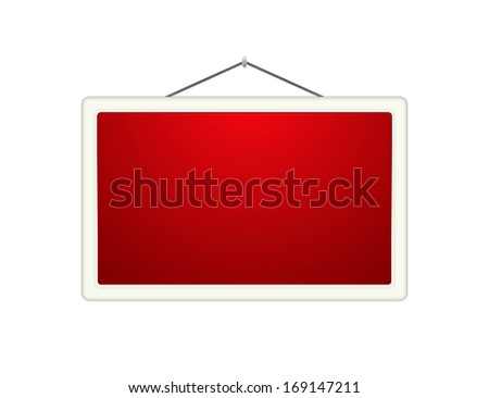 Blank Hanging Sign Board The Blank Red Hanging Board