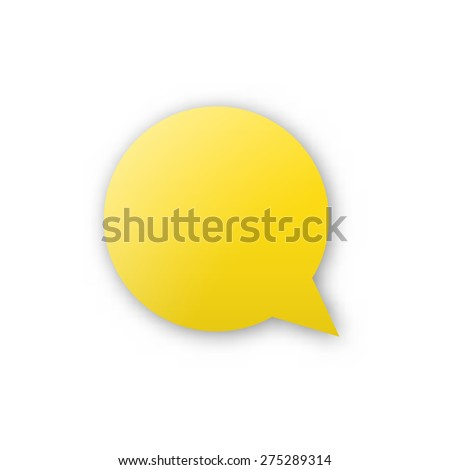 the blank yellow bubble icon / the bubble / the comment bubble #275289314