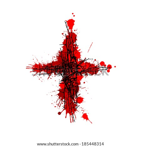 the bloody cross  vector