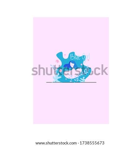 the blue girl  aqua girl