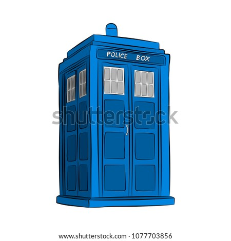 the blue police box contour