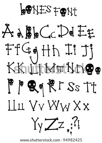 The Bones alphabet from my big font collection