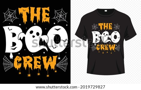 The Boo Crew - Cute Halloween T-shirt Design Vector. Good for Clothes, Greeting Card, Poster, and Mug Design.