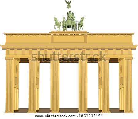 The Brandenburg Gate located in Pariser Platz in the city of Berlin, Germany Stock foto ©