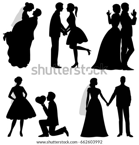 the bride and groom set