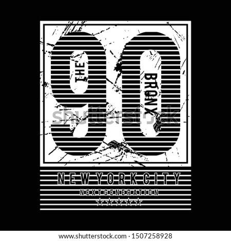 the bronx typographic t shirt design graphic, vector illustration artistic urban art