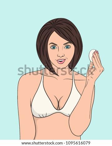 the brunette in her underwear
