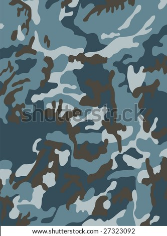 The camouflage is executed in grey-dark blue tones