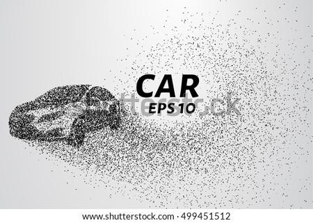 the car disintegrates to